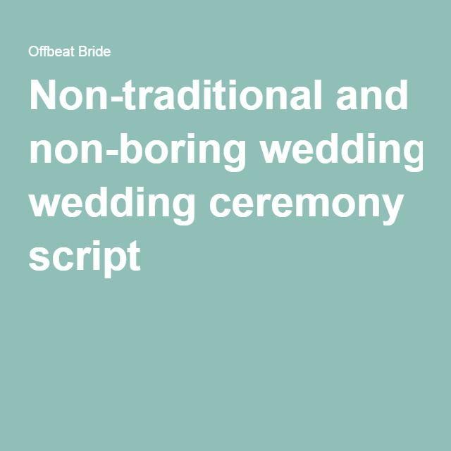 Boring Wives Quites: A Non-traditional, Non-religious, Non-boring Wedding