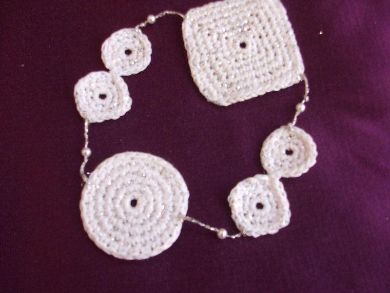 Braccialetti - bracciale cotone uncinetto geometria - un prodotto unico di dorazimorena su DaWanda