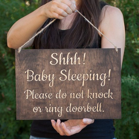 Baby Sleeping Sign Shhh Baby Sleeping Please Do Not Knock Or Ring