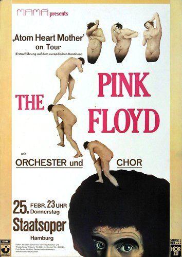 Pink Floyd Atom Heart Mother 1971 - Original Konzertposter