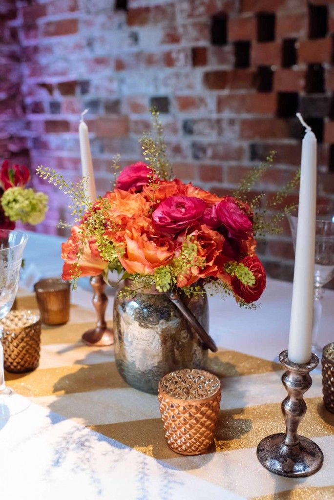 The Wedding Of My Dreams Bronze Gold Tablescape Florist Pion For Flowers