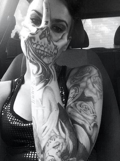 Skull Face Jlov3 Tattoos Original Tattoos Hand Tattoos