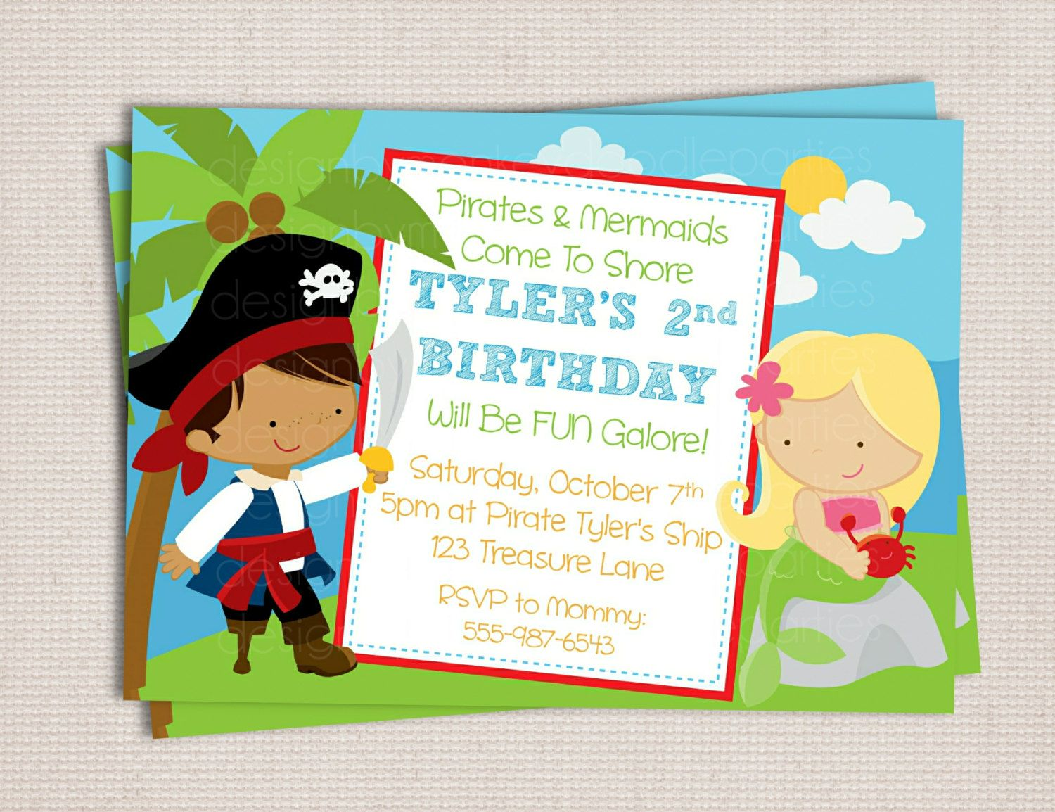 Pirates And Mermaids Theme Birthday Party By Monkeydoodleparties