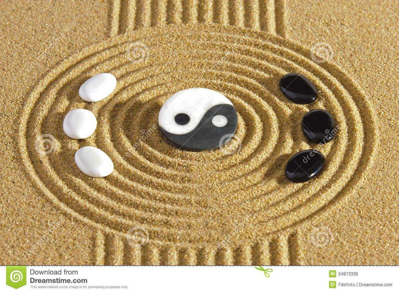 how to design a ying yang garden Japanese zen garden with stones