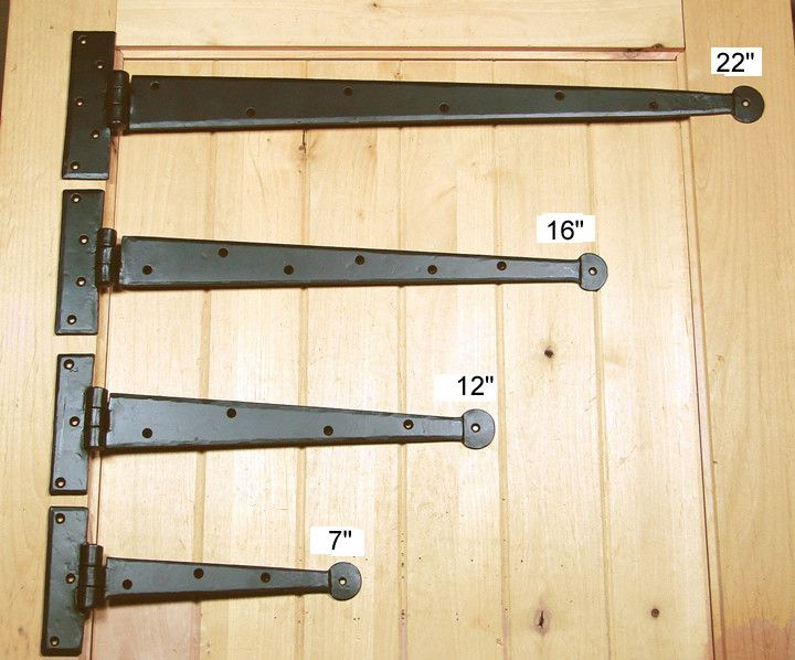 Premium Colonial Style Strap Hinges Barn Door Handles Decorative Hinges Rustic Doors