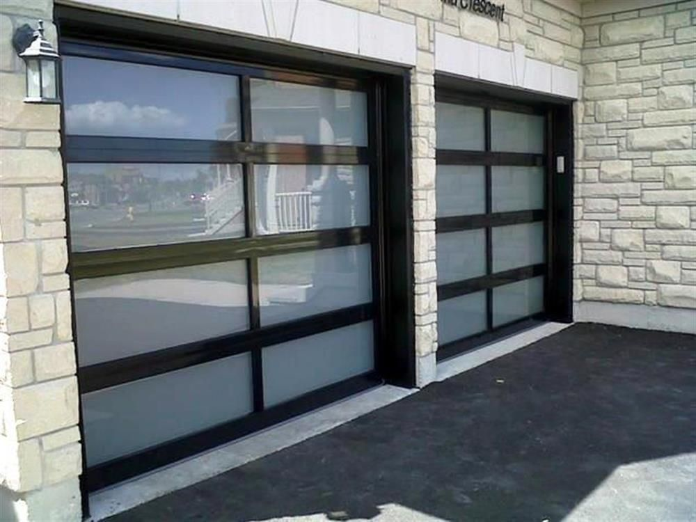 C H I Overhead Doors Model 3295 Full View Aluminum Garage Doors