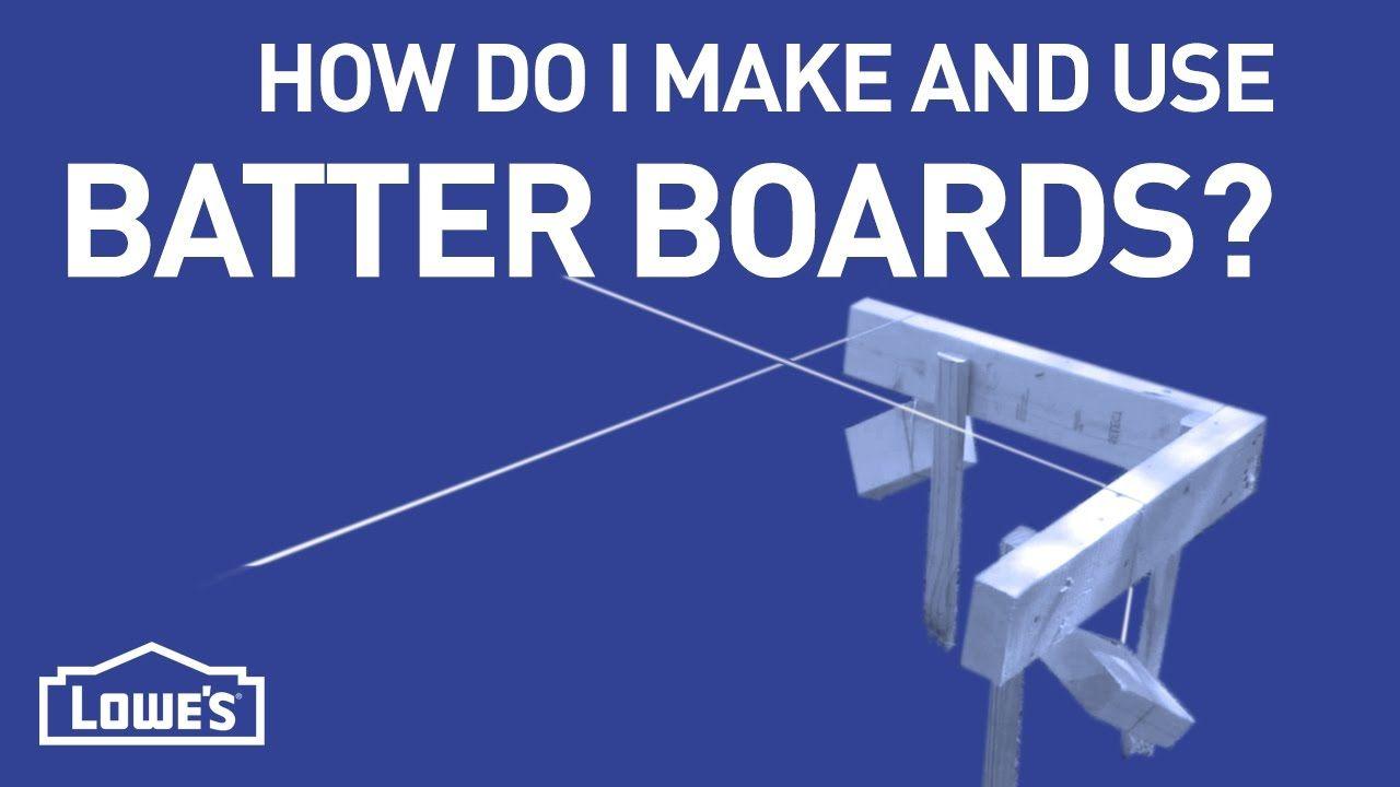 How Do I Make & Use Batter Boards?   DIY Basics - YouTube
