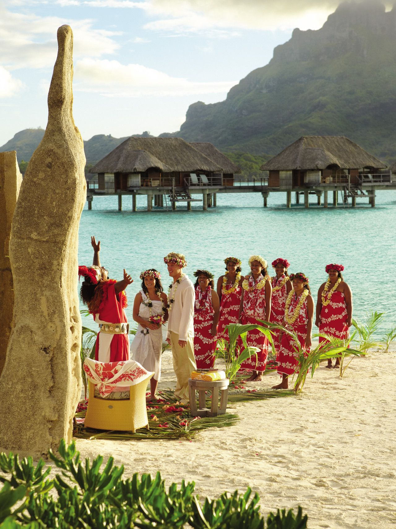 Tahitian Wedding At Four Seasons Resort Bora Bora © John