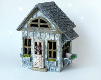 Fairy House Large Fairy Garden Cottage Leaf by TheLittleHedgerow