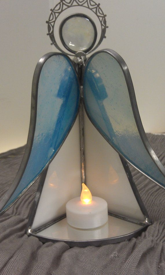 angel vitral mini candelabro | VITREAUX | Pinterest | Glas ...