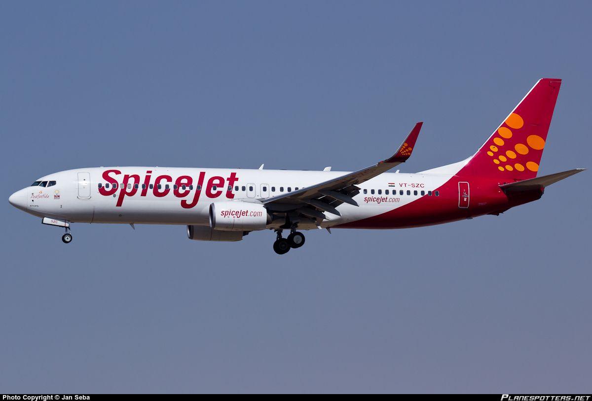 SpiceJet Boeing 737-8GJ in Sharjah Int'l, UAE.