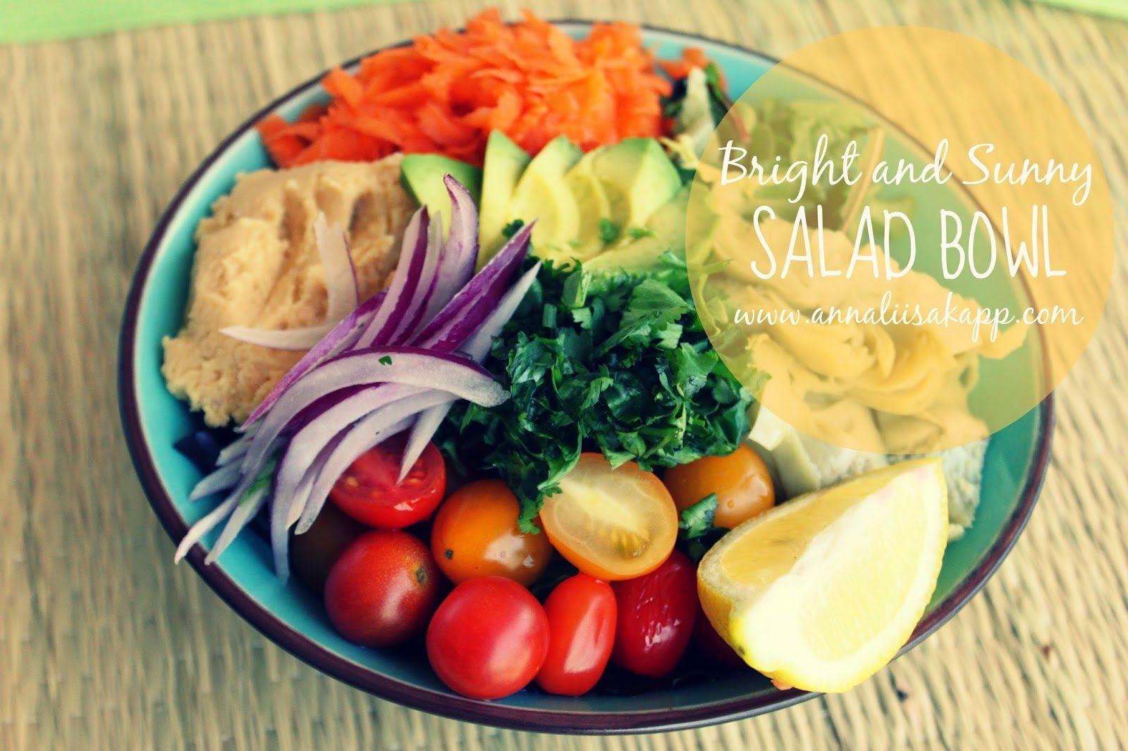 Bright and Sunny Salad Bowl Recipe ( 10 Day Salad