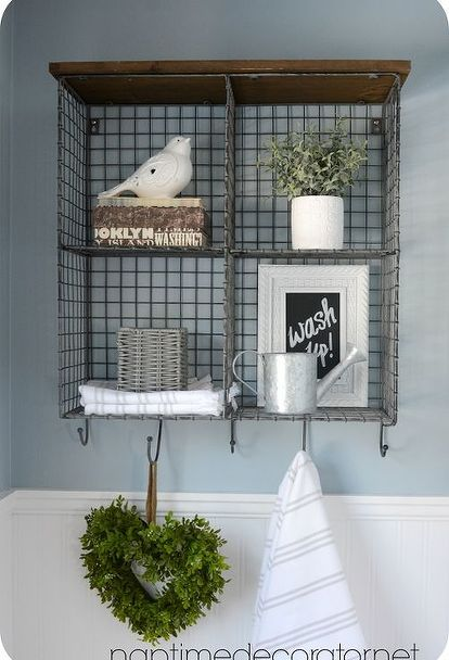 glamorous decorative bathroom wall shelves | Budget Powder Room Makeover | Remodel - bathroom ...