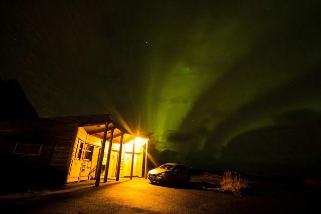 Luces del Norte Islas Lofoten Noruega: Luces del Norte en Skagsanden Beach Islas Lofoten ...