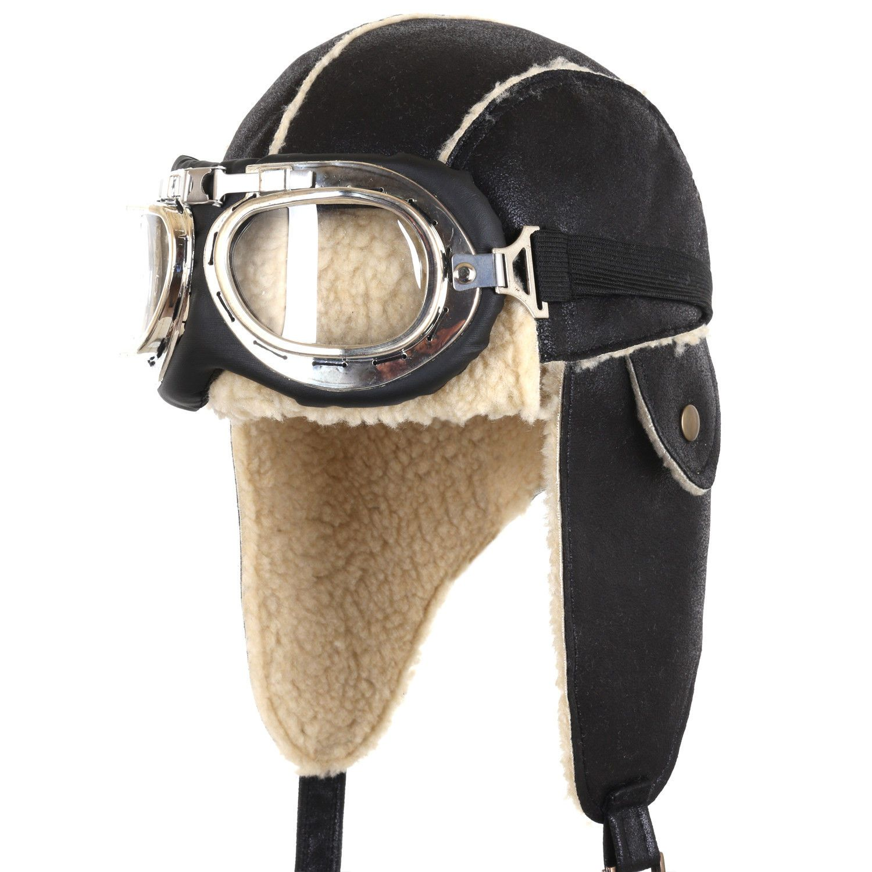 Image result for ililily Aviator Hat Winter Snowboard Fur Ear Flaps Trooper Trapper Pilot Goggles