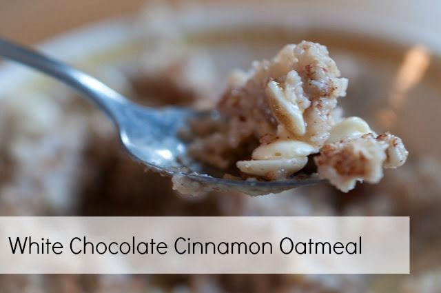 White Chocolate Cinnamon Oatmeal Recipe!  #oatmeal #recipes