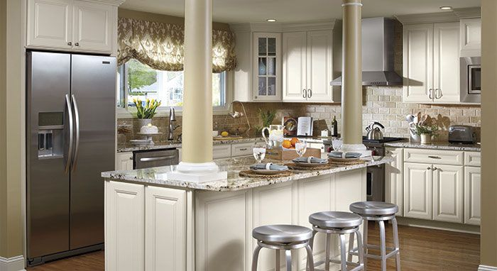 White Kitchen Renovation off white kitchen cabinets | off-white cabinetry in maple wood in