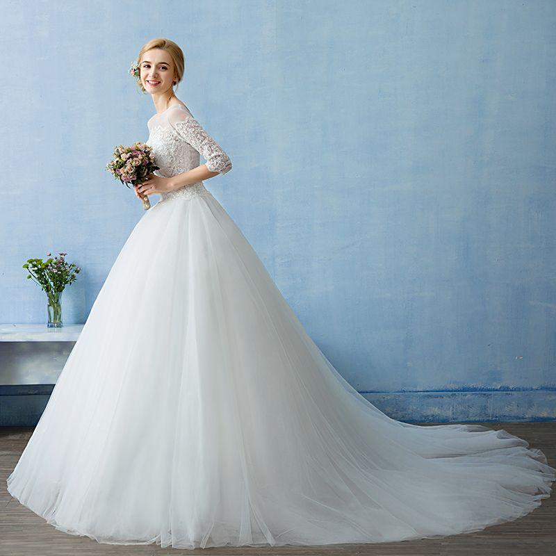 Aliexpress.com : Buy SSYFashion Long Sleeve Wedding Dresses The ...