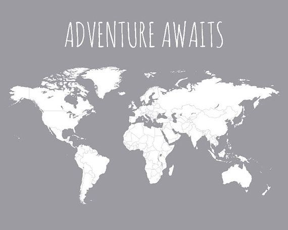 World travel map pin board adventure awaits by paperplaneprints world travel map pin board adventure awaits by paperplaneprints gumiabroncs Gallery