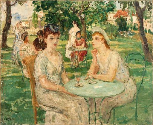 Jean Louis Marcel Cosson, Deux femmes au jardin