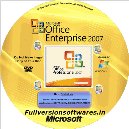 ms office 2007 full version with product key free download