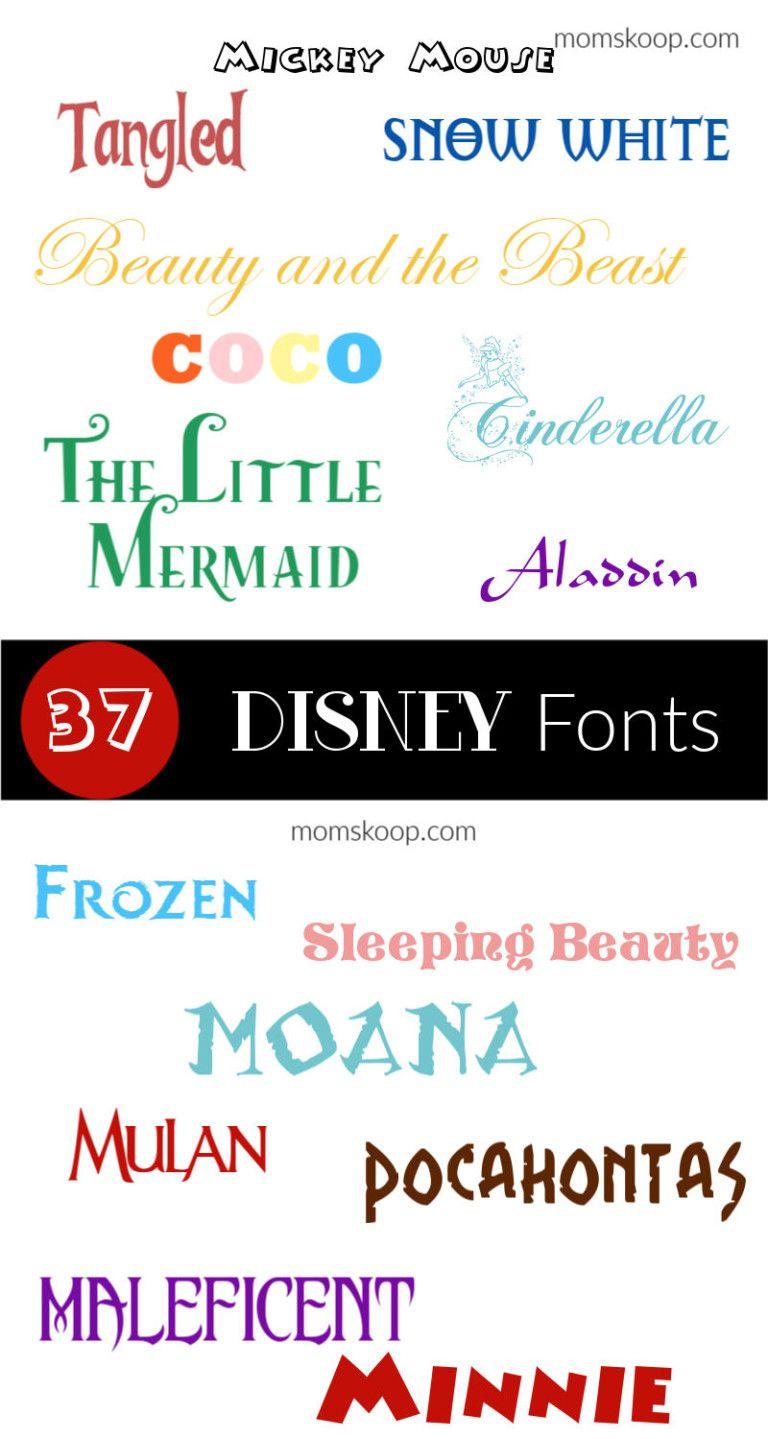 Free Disney Fonts momskoop freedisneyfonts disneyfonts