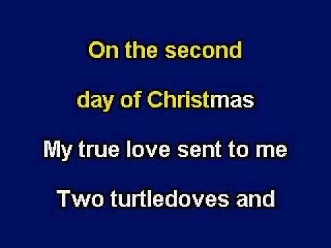 The Twelve Days Of Christmas, karaoke video with lyrics - YouTube | Karaoke, Twelve days of ...