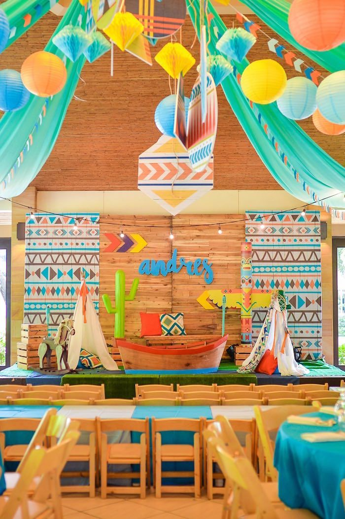 Boho Tribal 1st Birthday Party Indian Birthday Parties Boys 1st