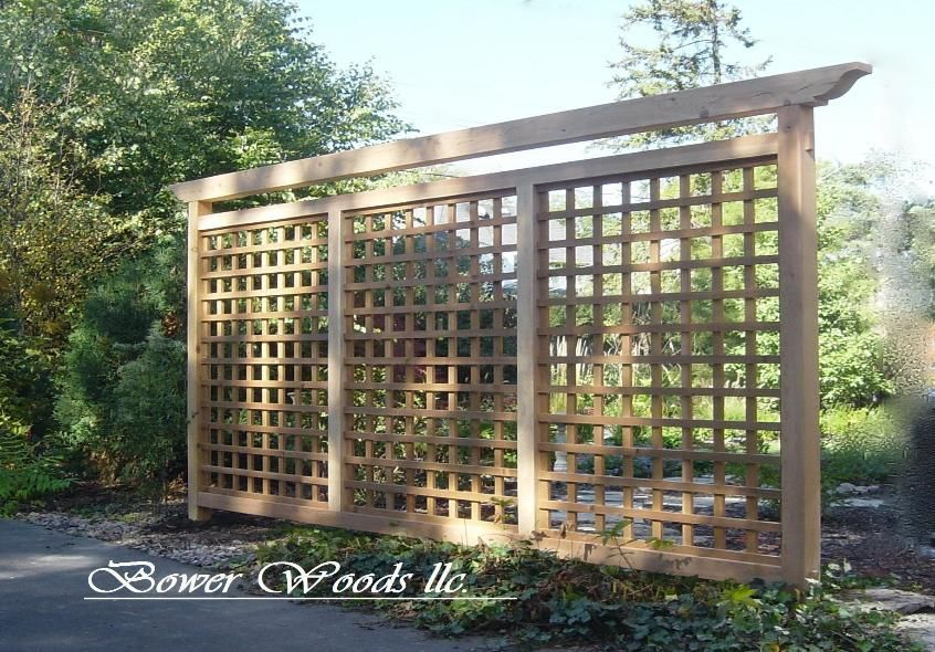 Tuscan trellis privacy idea could grow ivy on it for all for Lattice garden fence designs