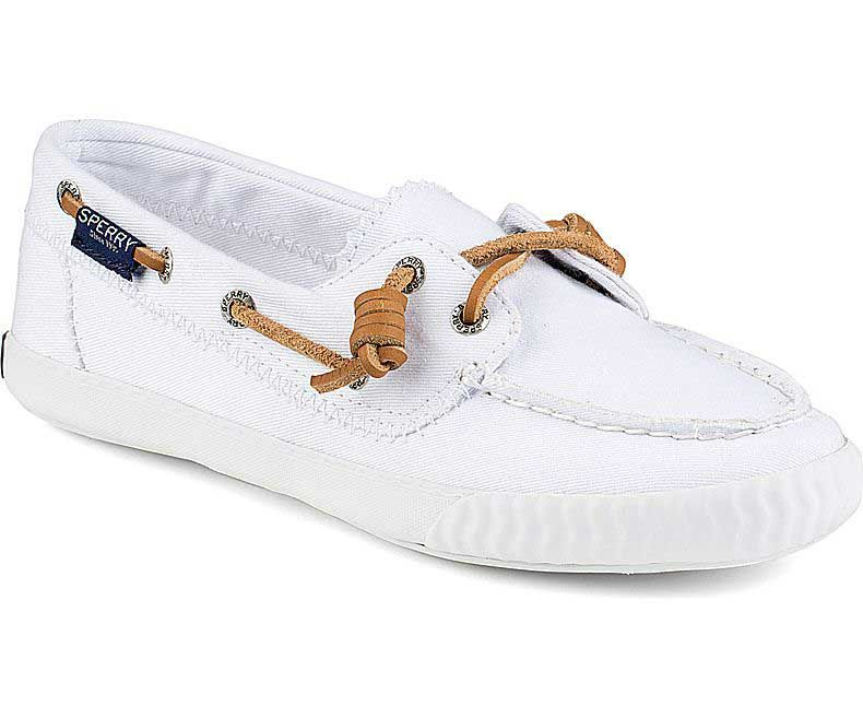 fcbd3ae9b2 Sperry Top-Sider Womens Paul Sperry Sayel Away Sneakers in Washed White  STS95742