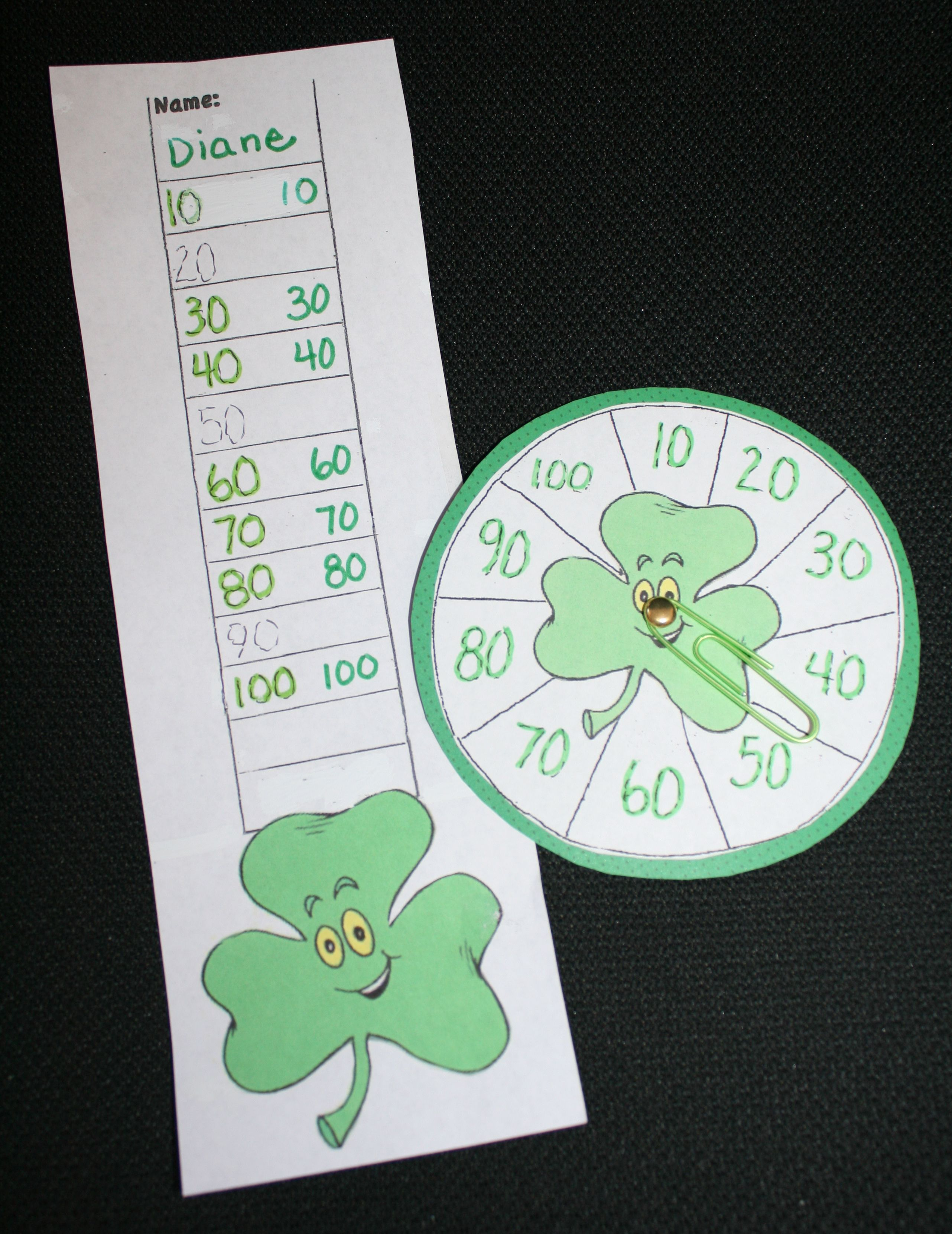 Shamrock Skip Counting Game By 2 S 3 S 5 S And 10 S Also