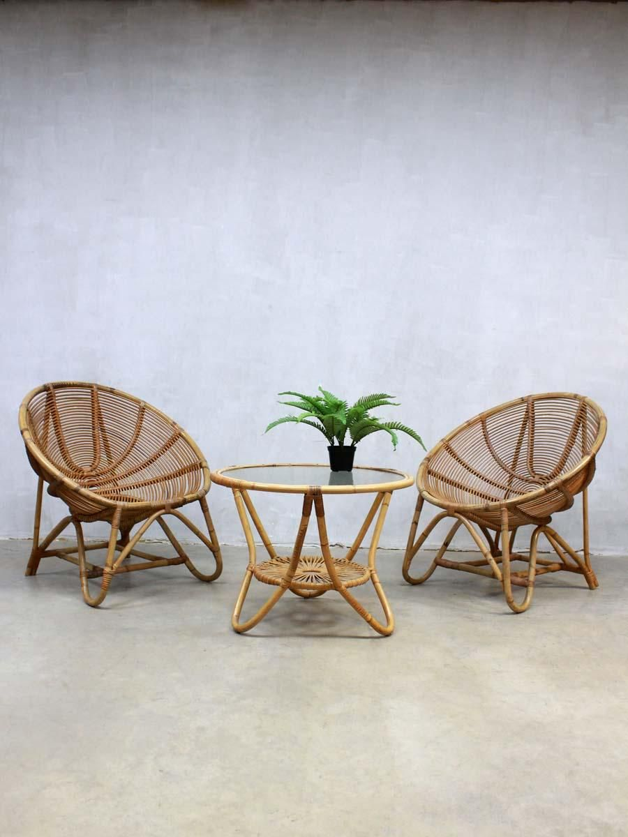 Vintage Rattan Bamboo Coffee Table From Rohe Noordwolde 2 Bamboo