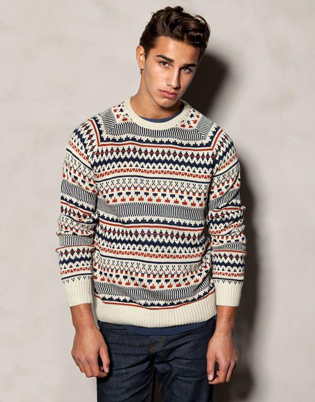 código promocional 59bdb 59238 JERSEY JACQUARD - PUNTO - HOMBRE - España | Men's Sweaters ...