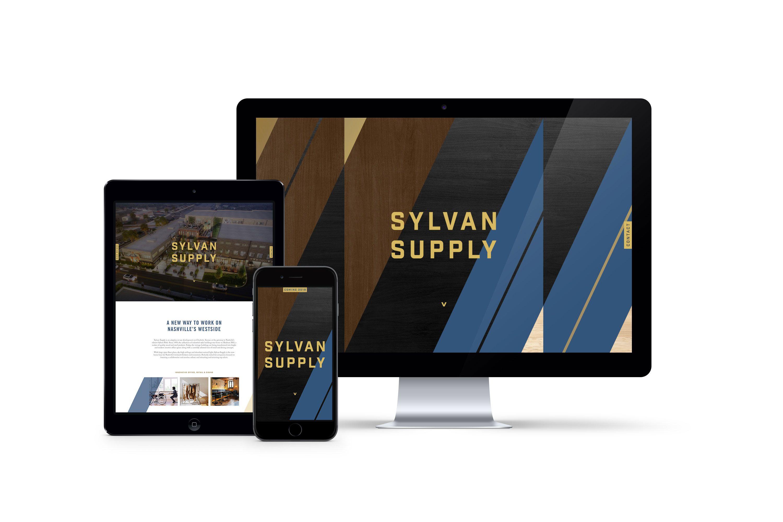 Single Scroll Splash Page Website Design For The Launch Of The Mixed Use Development Sylvan Supply In Nashville Splash Page Website Design Branding