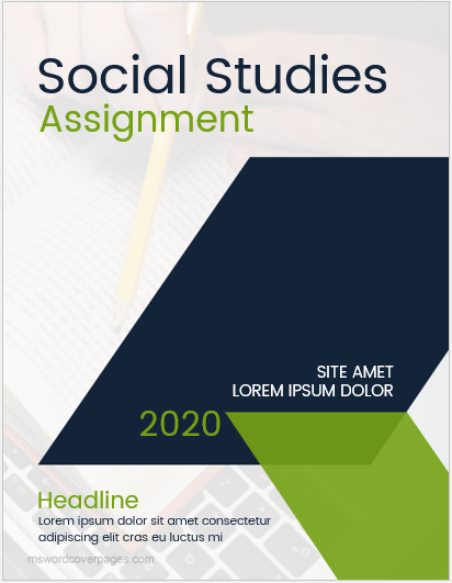 Social Study Assignment Cover Pages Ms Word Cover Page Templates Cover Page Template Cover Page Template Word Cover Pages