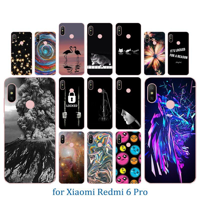 Phone Case For Xiaomi Redmi 6 Pro Siliconetpu Volcanic Pattern Back Coque Cover Funda For Xiaomi Mi A2 Lite Pro Cover Protective Wholesale Phone Cases Phone Cases Soft Silicone