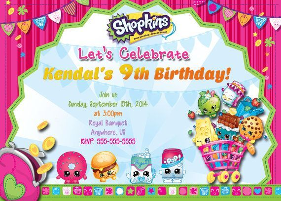 S Hopkins Birthday Party Invitations Free Craft Ideas