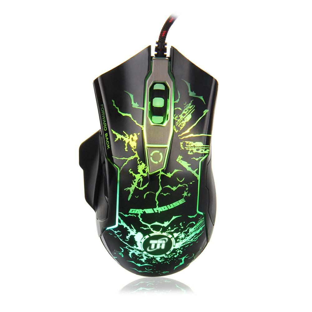 Tni Professional Thunderlight Backlit Gaming Mouse 6 Buttons Multi Dragon War Gkm 001 Sencaic Keyboard Combo Set Led Color Usb