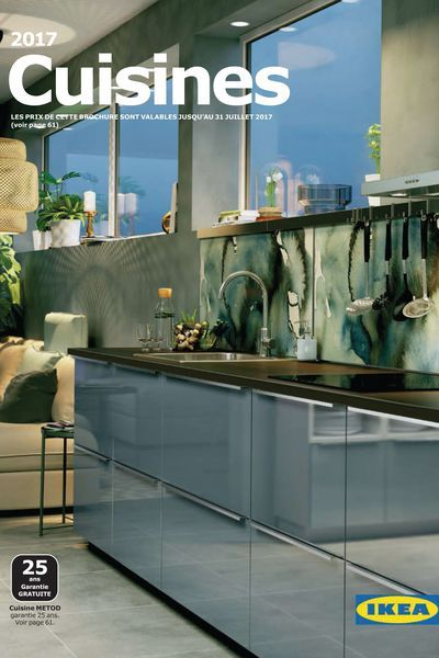 En couverture du catalogue Cuisine Ikea 2017  une nouvelle finition