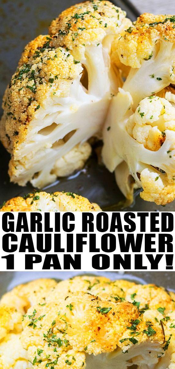 Whole Roasted Cauliflower (One Pan) images