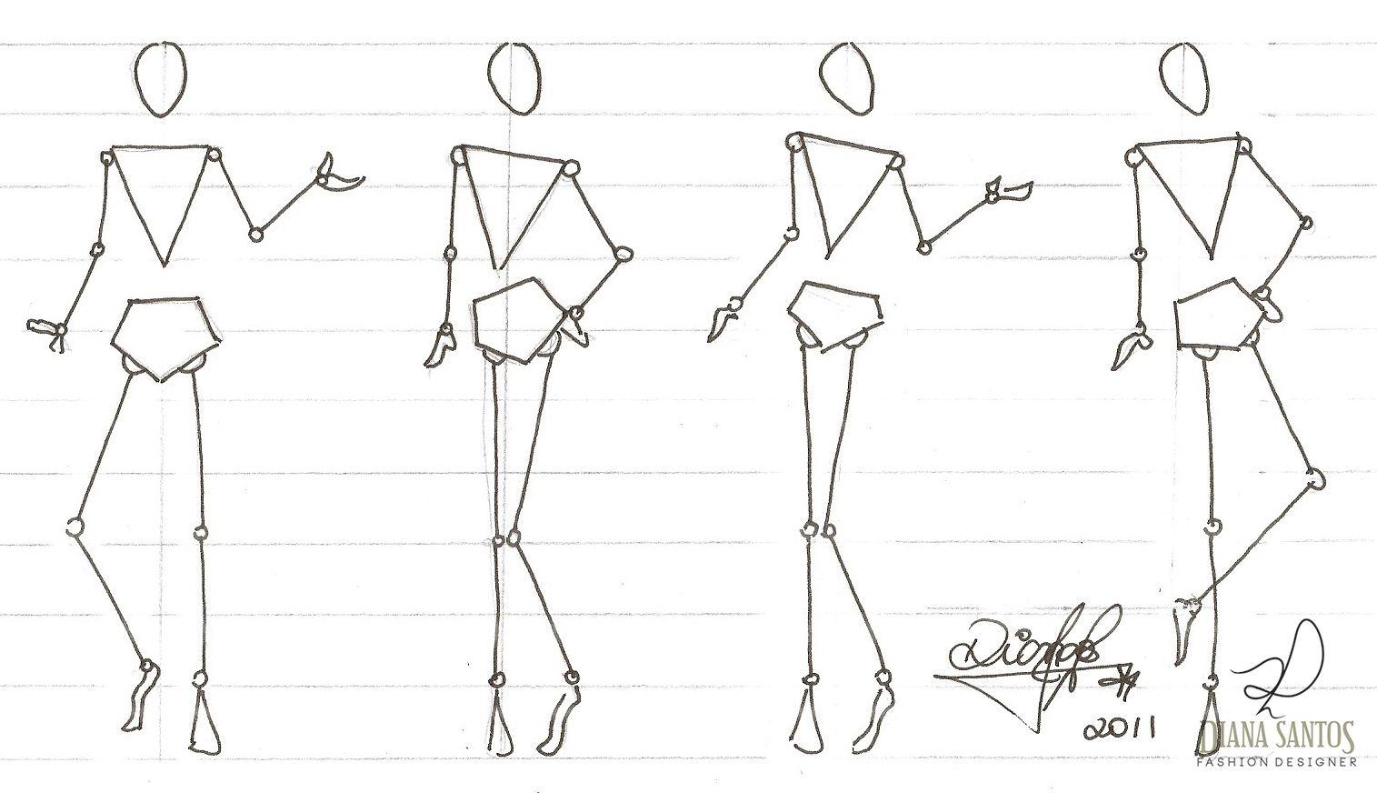 Desenhando Croqui De Moda  Diana Santos Fashion Designer