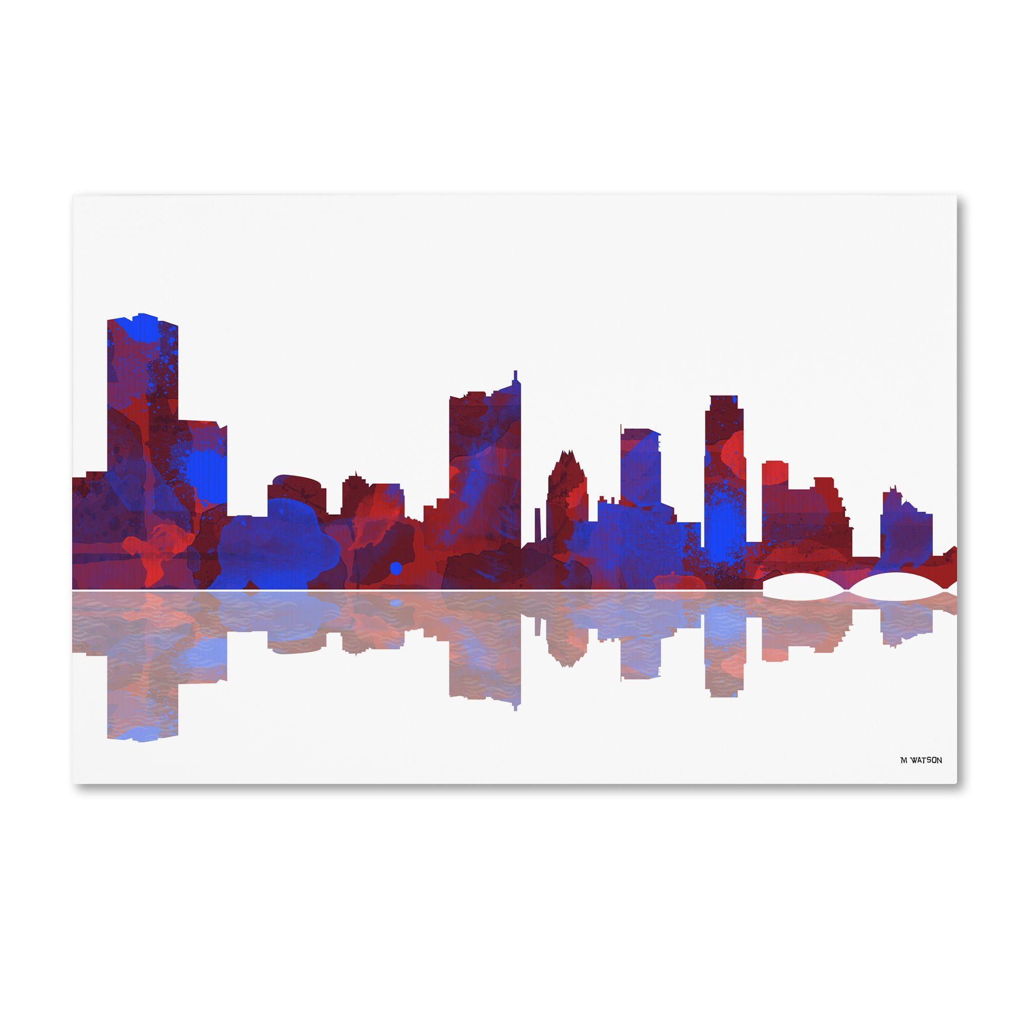 Marlene watson uaustin texas skylineu wall art products