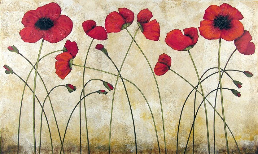 Blooming red poppy poppies modern painting inspirace pinterest blooming red poppy poppies modern painting mightylinksfo Image collections