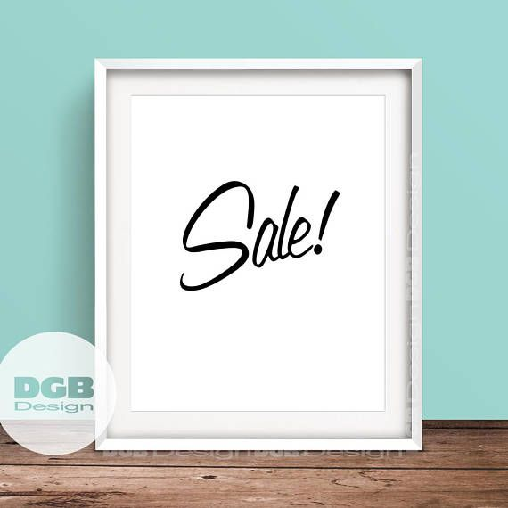 Sale Signage Printable Retail Store Sign Classic PRINTABLE ArtSales Room Old School SignTypography Art Print