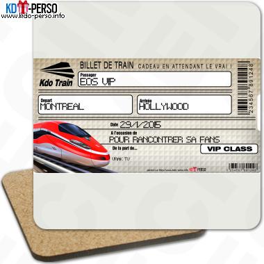 Creer Votre Faux Billet De Train Cadeau Personnalise Billet De Train Billet Train