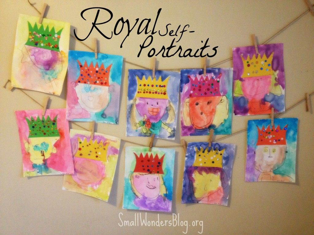 royal self portraits inspired by deep space sparkle this fairy tale theme and other preschool. Black Bedroom Furniture Sets. Home Design Ideas