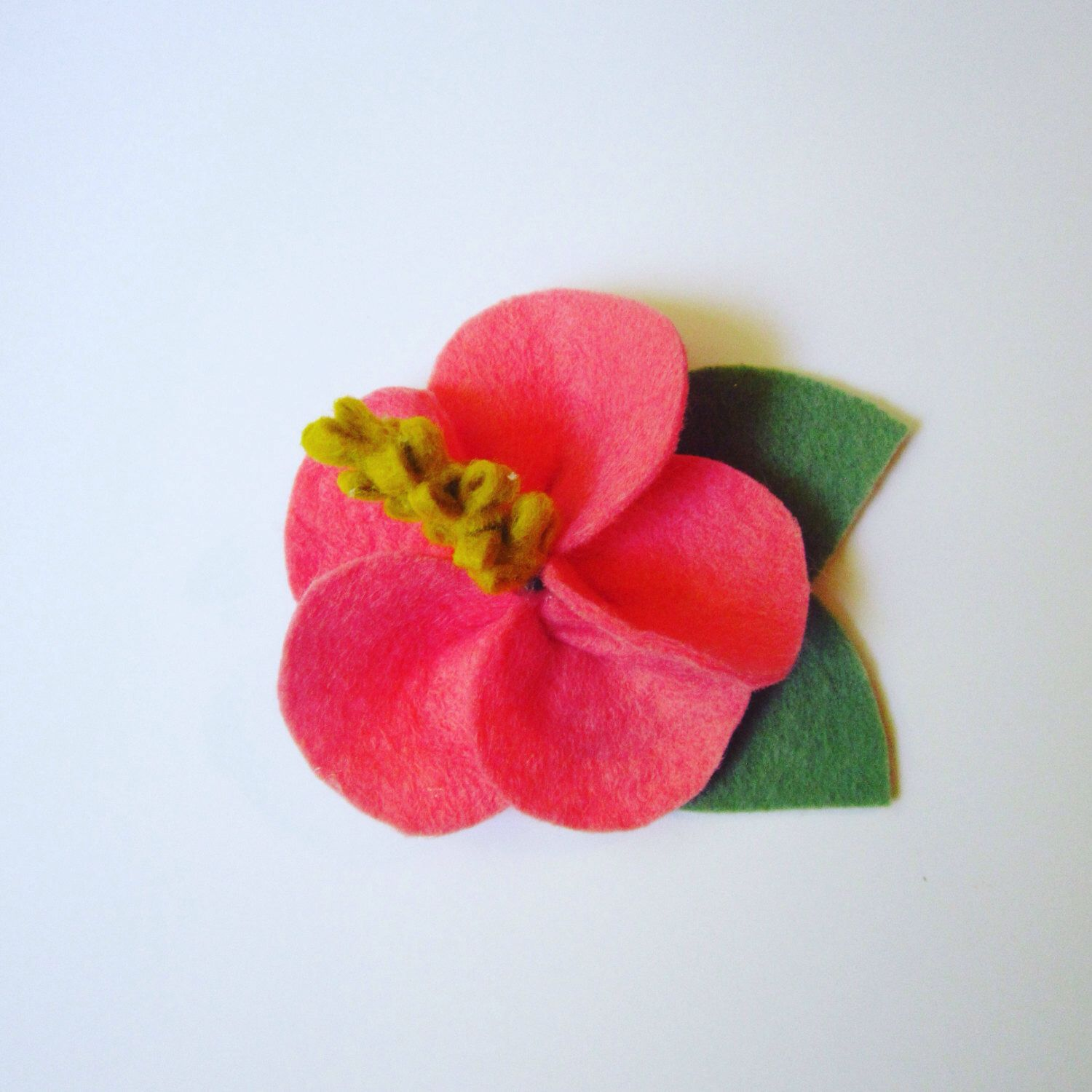 Felt Hibiscus Flower Headband or Hair Clip / Hawaiian Flower ...