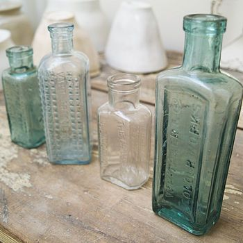 Vintage Glass Storage Bottle Pinterest