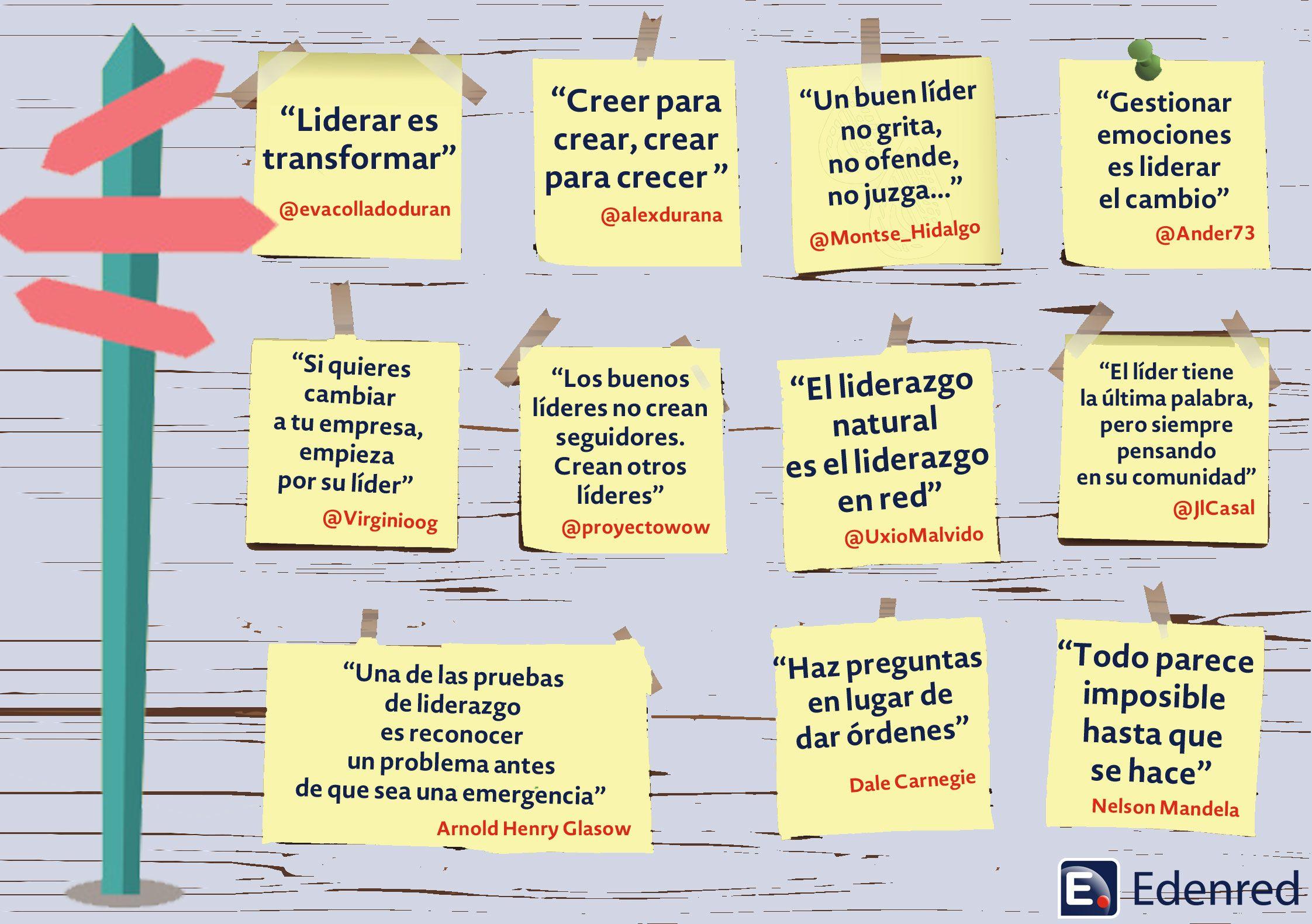 Frases sobre Liderazgo vistas en Twitter vía @edenredes #infografia #infographic #citas #quotes