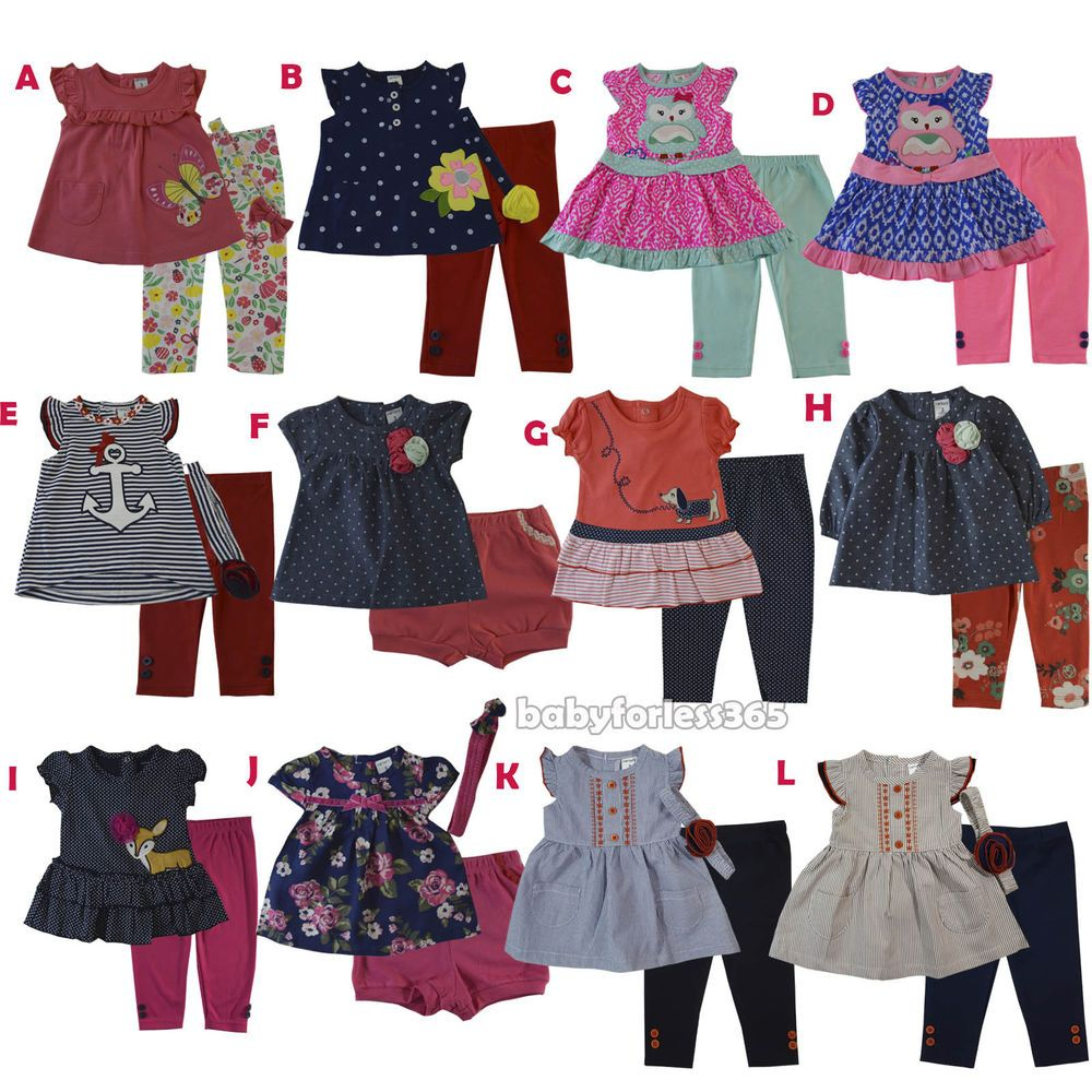8ee84fc1e3f9 fashion New Carter s Baby Girls Outfit Clothes Shirt legging Size 3 ...